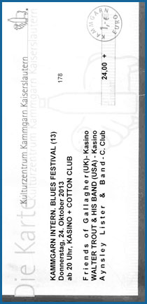Walter Trout Ticket